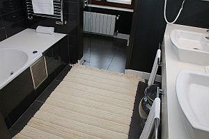 Carpet in a bathroom