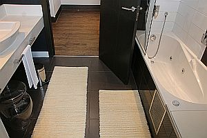 Bathroom - two narrow carpets
